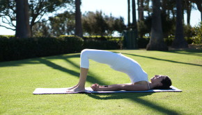 Bridge Pose Private Yoga Santa Monica Brentwood Pacific Palisades