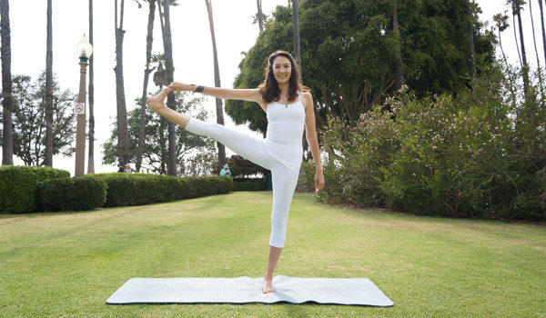 Standing Hand to Toe Pose Private Yoga Santa Monica Brentwood Pacific Palisades Bel Air Venice