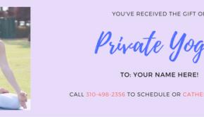Private Yoga Santa Monica Gift Certificate