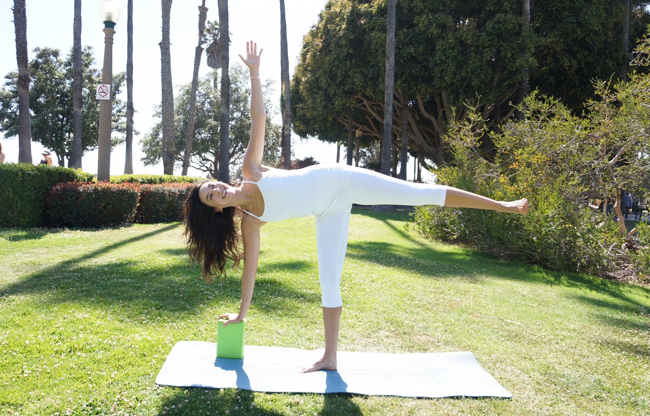 Private Yoga Instructor Santa Monica Los Angeles Using Yoga Blocks